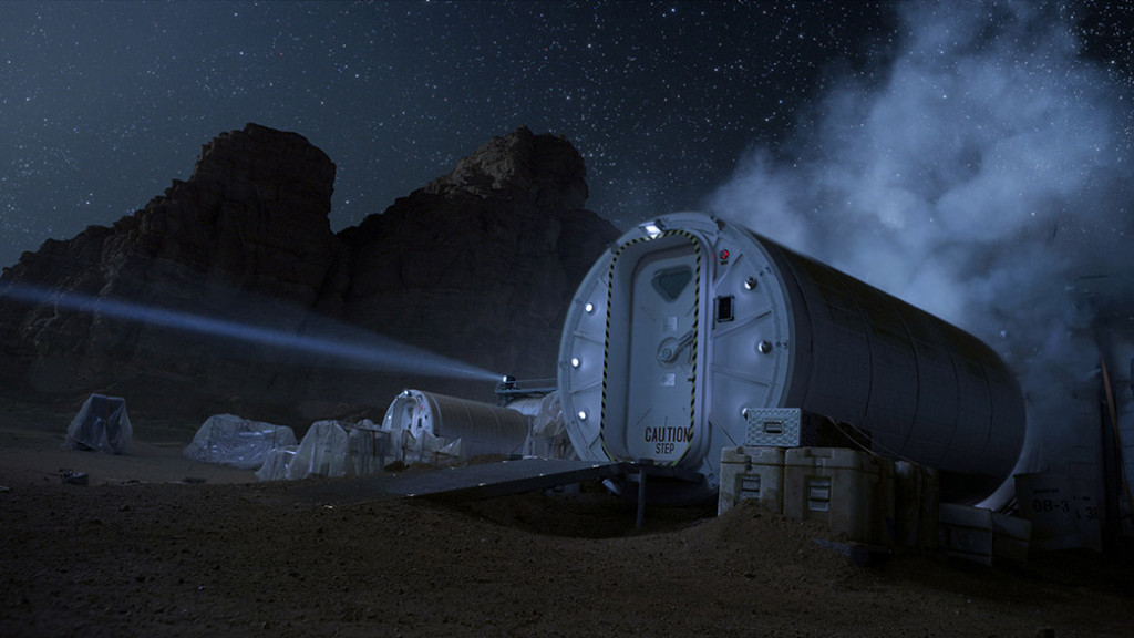 """An artificial living habitat (Hab) is necessary to facilitate human exploration of the planet Mars in """"The Martian."""" Image Credit: Twentieth Century Fox"""