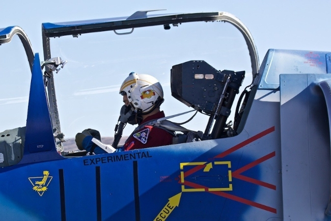 Science mission specialist Dr. Justin Karl prepares for takeoff. Image Credit: PRNewsFoto/Citizens in Space