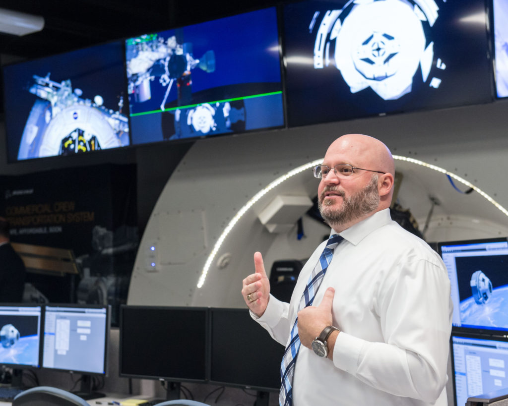 Boeing showing commercial crew training simulations and hosting a ribbon cutting ceremony for the Space Training, Analysis and Review (STAR) Facility. Image Credit: NASA/Lauren Harnett