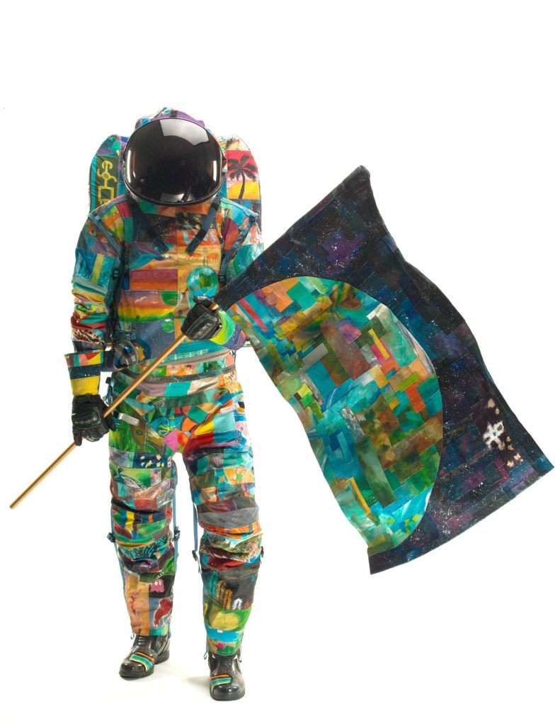 HOPE: Space Suit Art Project increases awareness of childhood cancers. Image Credit: The University of Texas M. D. A