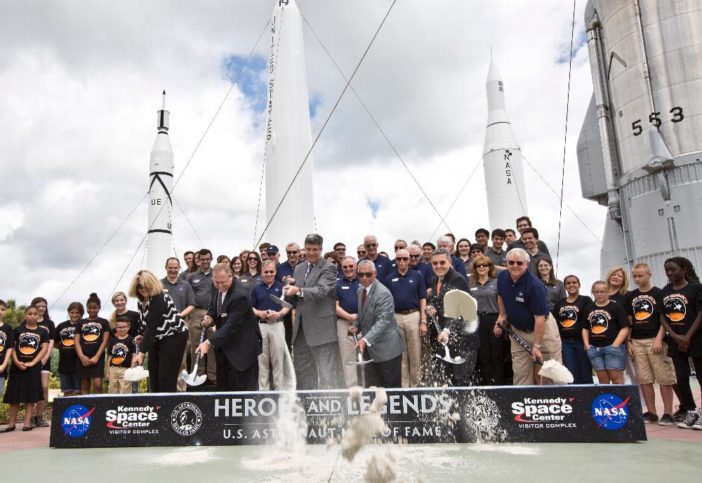 Heros and Legends ground breaking ceremony at Kennedy Space Center Visitor Complex on May 29, 2015. Image Credit: Kennedy Space Center/Julie Fletcher