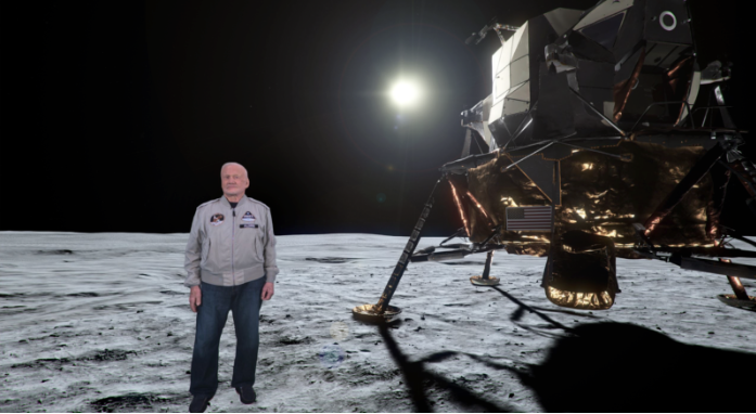 Buzz Aldrin as a 3D hologram in a volumetric VR experience coming soon to Time Inc's LIFE VR. Image Credit: 8i