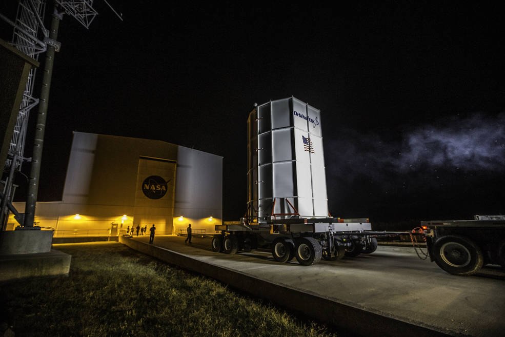 Orbital ATK's Cygnus spacecraft arrived on Oct. 2, 2016 at the Horizontal Integration Facility at NASA's Wallops Flight Facility in Virginia for mating with the Antares rocket. Cygnus is scheduled to launch on the Antares rocket at 8:03 p.m. EDT, Oct. 16, 2016, carrying about 5,100 pounds of cargo to the International Space Station. Image Credit: NASA